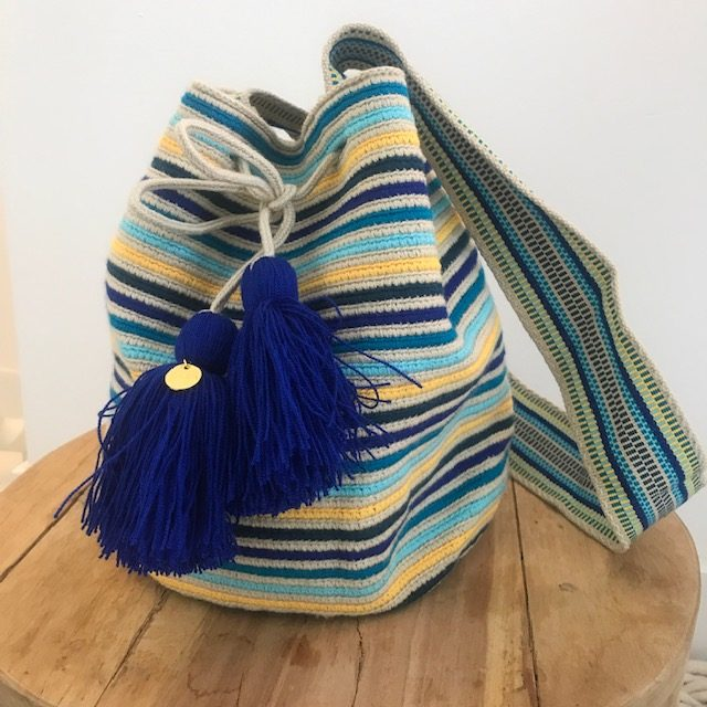 Wayuu mochila stripes sea beach